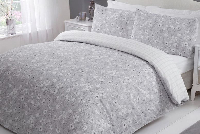£11 (from Five Minutes More) for a single floral duvet cover set, £15 for a double duvet cover set, £17 for a king size cover set or £18 for a super king size cover set