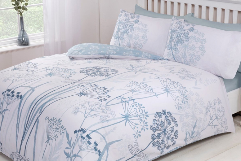 £8.99 (from Five Minutes More) for a country meadow duvet cover set, £12.99 for a double duvet cover set, £14.99 for a king size duvet cover set, £15.99 for a super king duvet cover size set