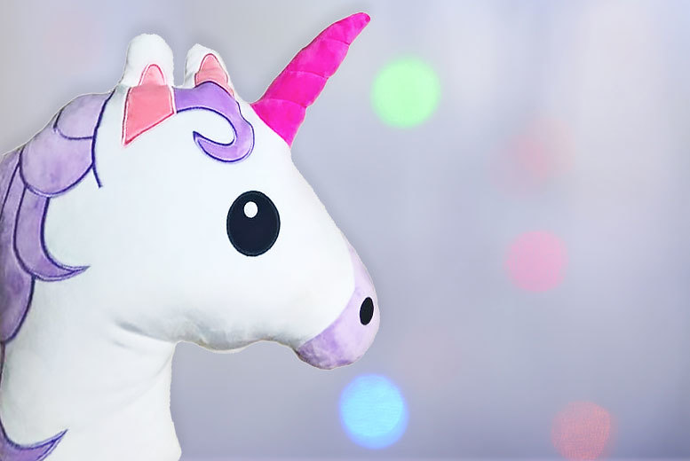 £7 instead of £16 (from JMD Online) for a unicorn emoji cushion, or £12 for two - save up to 56%