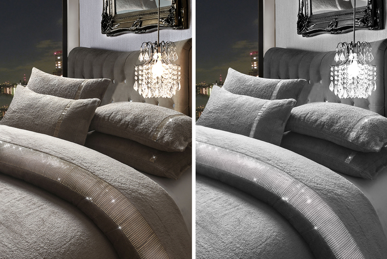 £19.99 instead of £49.99 (from E Home Store) for a single diamante fleece duvet cover, £23.99 for a double, £27.99 for a king or £31.99 for a super king – save up to 60%