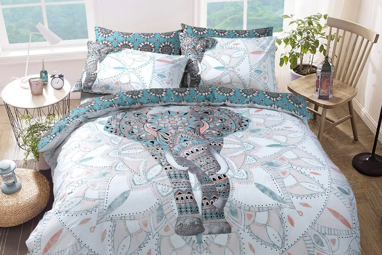 From £8.99 (from Five Minutes More) for a Mandala elephant bedding set – choose from three sizes!
