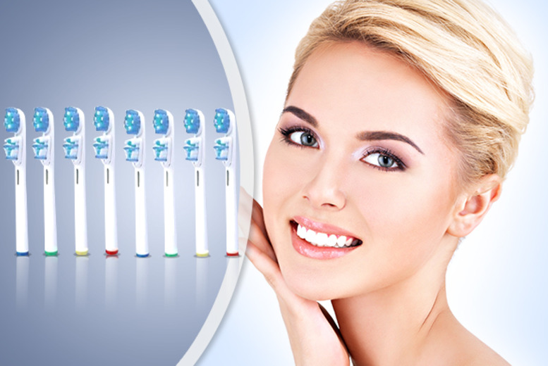 £5.99 (from Merchtopia) for 8 Oral-B compatible dual clean electric toothbrush heads, £10.99 for 16 - don't be daft as an old brush, get new ones!