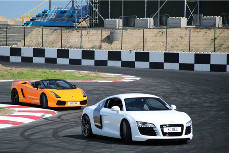 £79 instead of £355 for a driving experience inc. 3 driving laps and 2 passenger laps with Supercars Scotland - save 78%