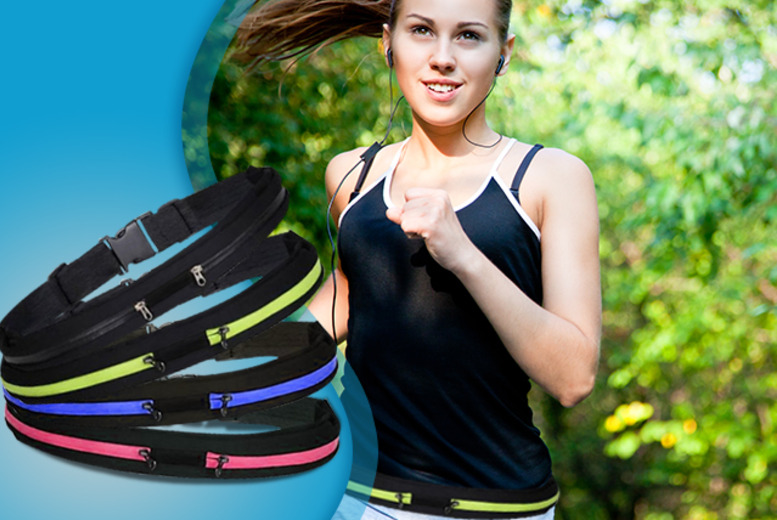 £5 instead of £17.99 for an adjustable sports belt with a double pouch from Fizzy Peach - save 72% + DELIVERY INCLUDED!