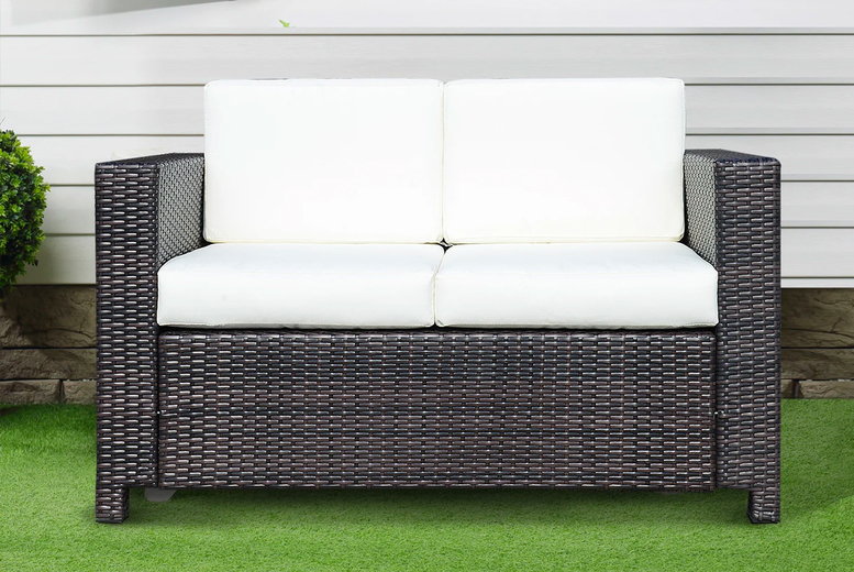 2-Seater Rattan Sofa – 2 Colours! (£139)