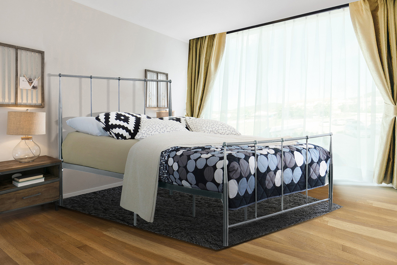 From £43 instead of £570 (from UK Furniture4U) for a single metal bed or £99 for a single with a mattress – choose your size and colour and save up to 92%
