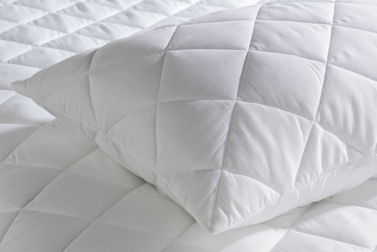 £6.99 instead of £16.99 (from Groundlevel) for two quilted pillow protectors or four for £10.99 instead of £33.98 – save up to 59%
