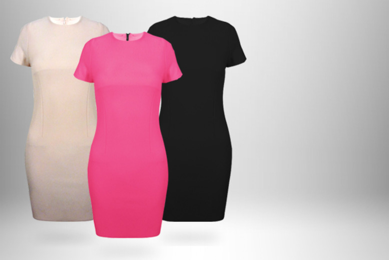£12.99 instead of £29.99 (from MYO Fashion) for a structured workwear dress in black, cerise or light pink - save 57%