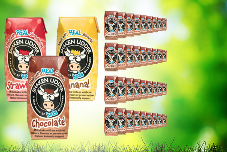 £11 instead of £22 (from Shaken Udder) for 36 cartons of Shaken Udder kids' milkshake in a choice of flavours - get milk and save 50%