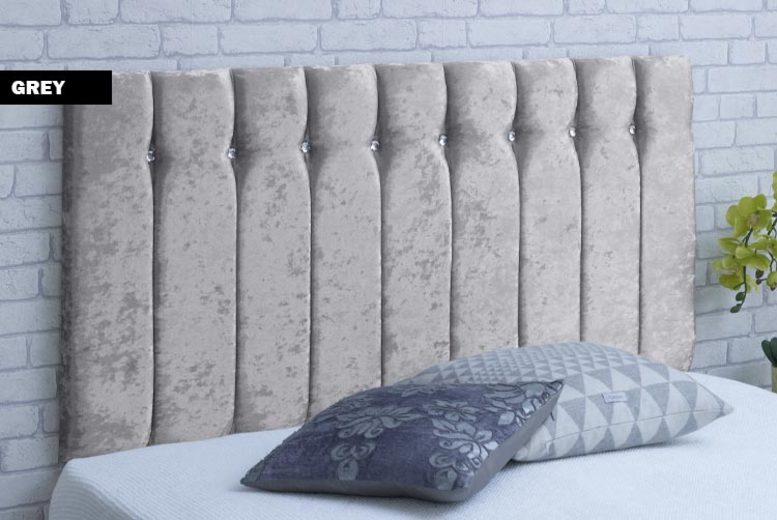 From £26 for a crushed velvet headboard from Serene Living – save up to 57%