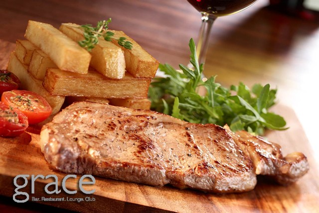 £19 instead of up to £52.58 for a 2 course meal for 2 inc. starter, main & a glass of wine each at Grace Bar, Piccadilly Circus – save up to 64%