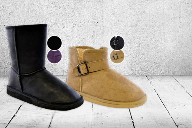 £7 instead of £22 (from Urshu) for a pair of women's fleece-lined boots - save a snug 68%