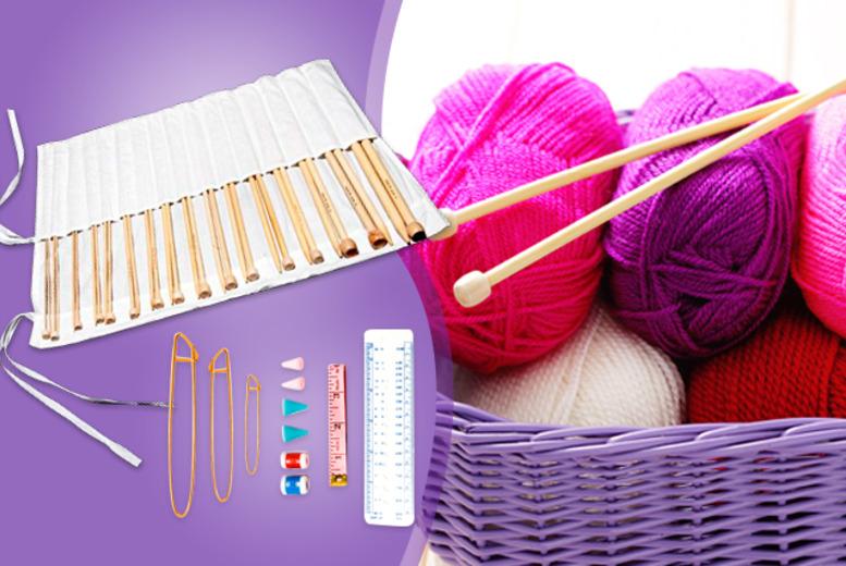£10 instead of £26.99 (from Curtzy) for a 44-piece knitting kit with bamboo needles and accessories - save 63%