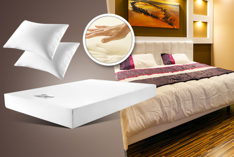 From £79.99 instead of £209 (from Trusleep) for a single, double, king, or super king memory foam mattress & pillows - save up to 62%