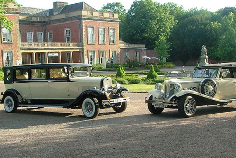 £249 instead of £500 for two vintage wedding cars to hire from Scrumptious Cars, Nottingham - save 50%