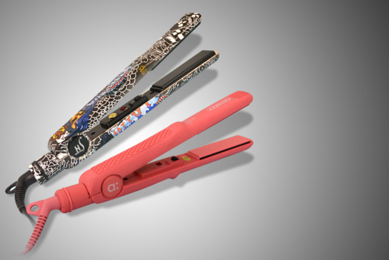 £19 instead of £79.95 (from Funtica) for a pair of Amika pink or Herstyler 'tattoo' straighteners - save 76%