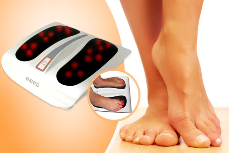£39.99 instead of £59 for a HoMedics shiatsu foot massager with adjustable heat settings from Wowcher Direct - treat your feet and save 32%