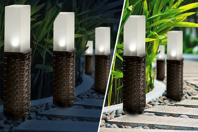 XL Solar Rattan Post Lights – Get 1, 2 or 4! (£8.99)