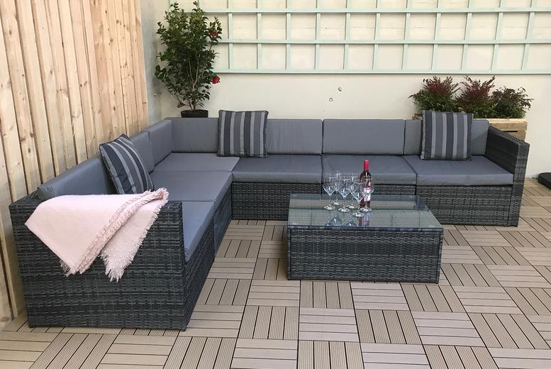 Modular Evie Rattan Sofa Set (£599)