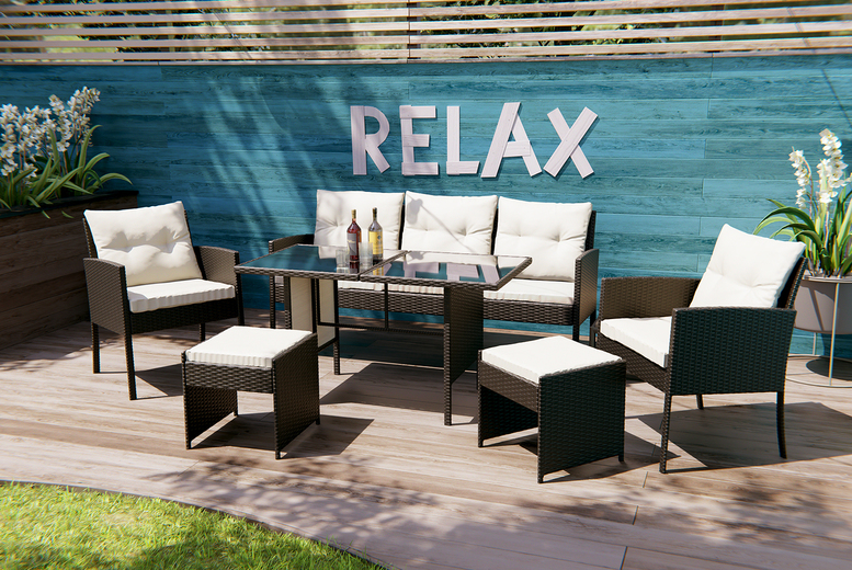 "6pc ""˜Sydney' Rattan Lounge Set – 3 Colours! (£279)"