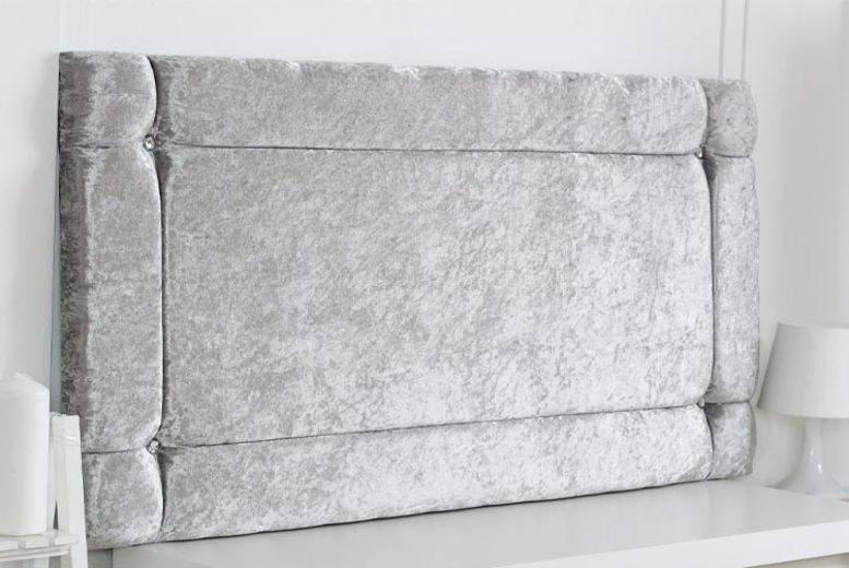From £24 instead of 78.99 for a crushed velvet headboard from Serene Living – save up to 70%