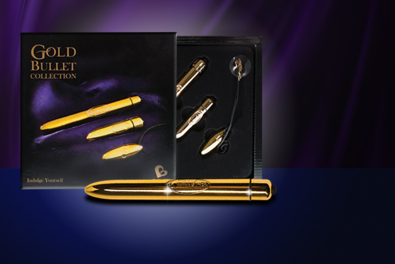 £12.99 (from Rocks Off) for a bullet vibrator, £21.99 for the 3pc 'Gold' collection or £24.99 for the 3pc 'Pleasure' collection - save up to 32%