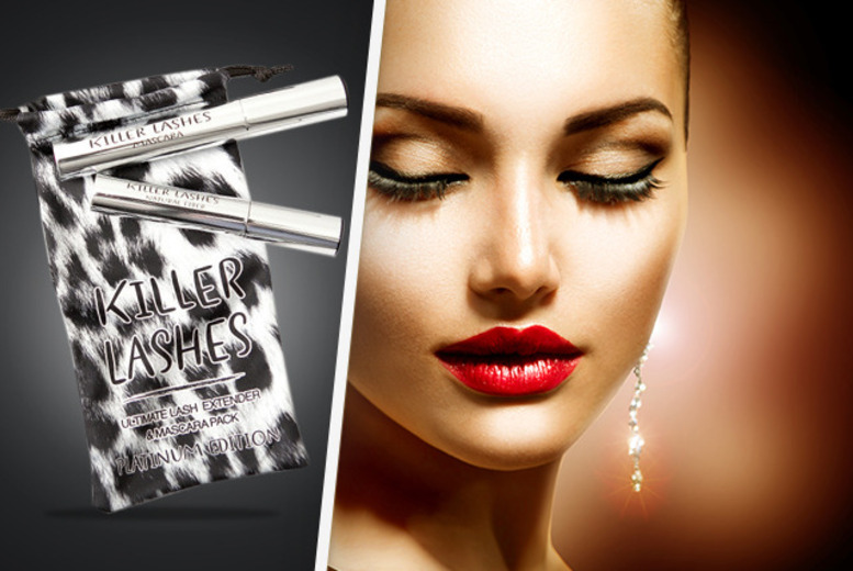 £9.99 instead of £29.99 (from Look Good Feel Fabulous) for a 'Killer Lashes' mascara and brush-on fibre lash extender set - save 67% + DELIVERY INCLUDED!
