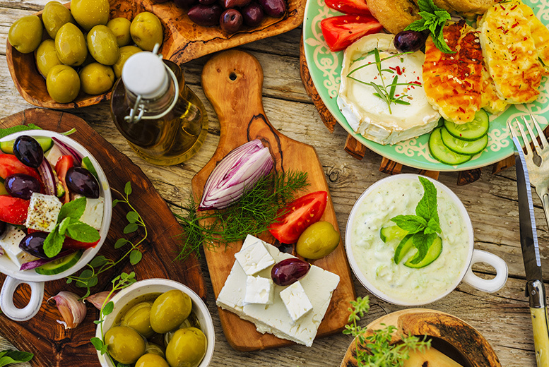 £22 instead of up to £47.50 for a two-course dinner and wine for two people, £43 for four people from My Big Fat Greek Kitchen, Edinburgh City Centre – save up to 54%