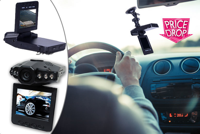 "£9.99 instead of £75 (from EFMall) for a HD DVR dashcam with 2.5"" LCD screen - stay safe and save 87%"