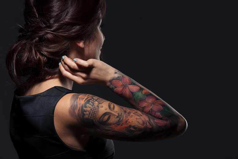 £19 instead of £60 for a tattoo design and one hour of ink time, or £129 for seven hours of ink time from Outline Tattoo Studio, Birmingham - save up to 68%