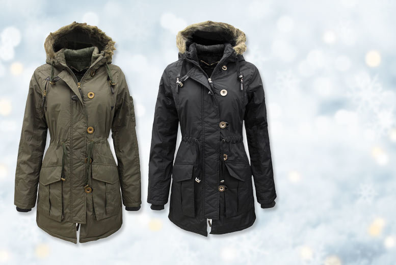 £22 instead of up to £99.99 (from Nothing New 2 Wear) for a ladies' military style parka jacket - choose from two colours and save up to 76%