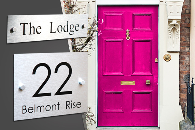 £9.99 instead of £24.99 (from Design A House Sign) for a personalised house sign - save 60%