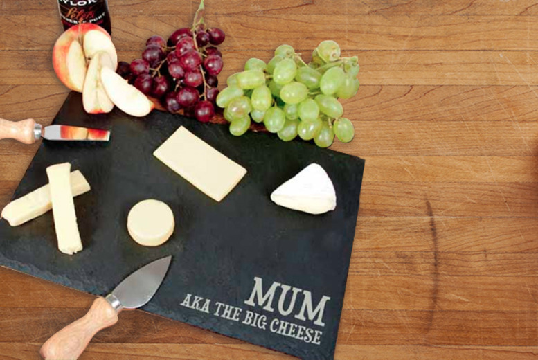 £14.99 instead of £29.99 (from Treat Republic) for a personalised rustic slate cheeseboard - save 50%