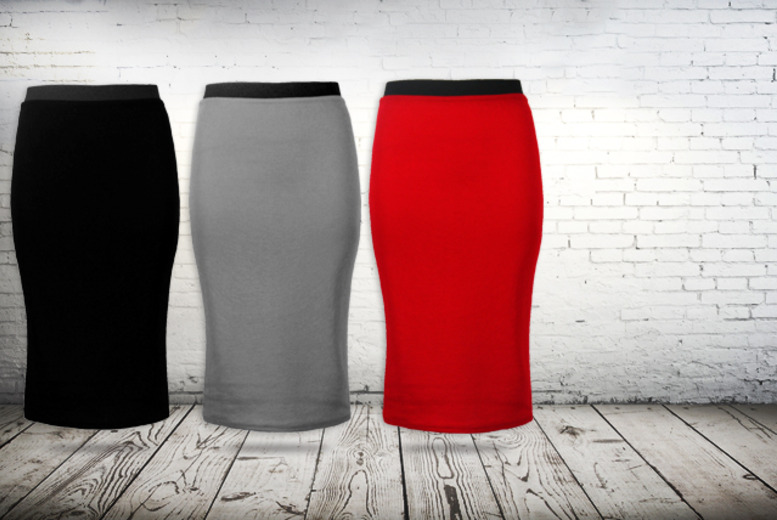 £6.99 instead of £14.99 (from Something About Fashion) for a bodycon midi skirt in a choice of 6 colours - save a sexy 53%