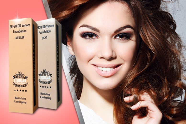 £19 instead of £79 (from Cougar Products) for tinted 'viper venom' moisturising cream in a light or medium shade - save 76%