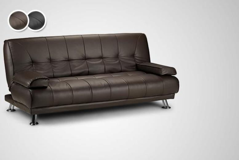 £159 instead of £699.99 for a Venice faux leather sofa bed in brown or black from Wowcher Direct - save 77% + DELIVERY IS INCLUDED!