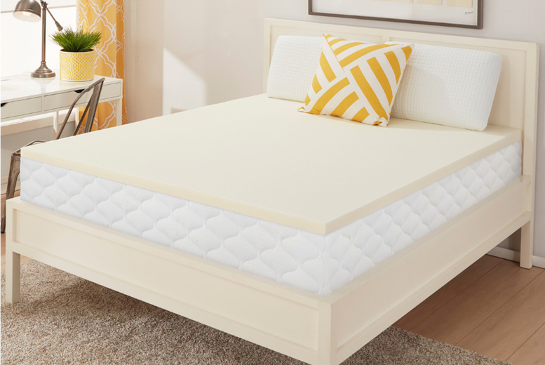 £19.99 (from Dream Foam) for a small single memory plus mattress topper with one pillow or £29 for a double topper with two pillows with sizing options!