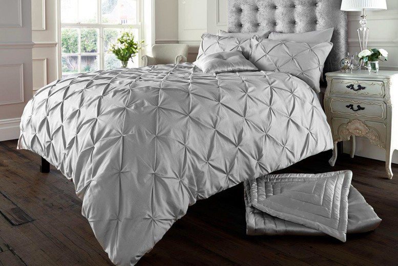 £12.99 instead of £39.99 (from Victoria Home Living) for a single Alford pin tuck duvet cover set, £18.99 for a double, £22.99 for a king or £26.99 for a super king – save up to 68%