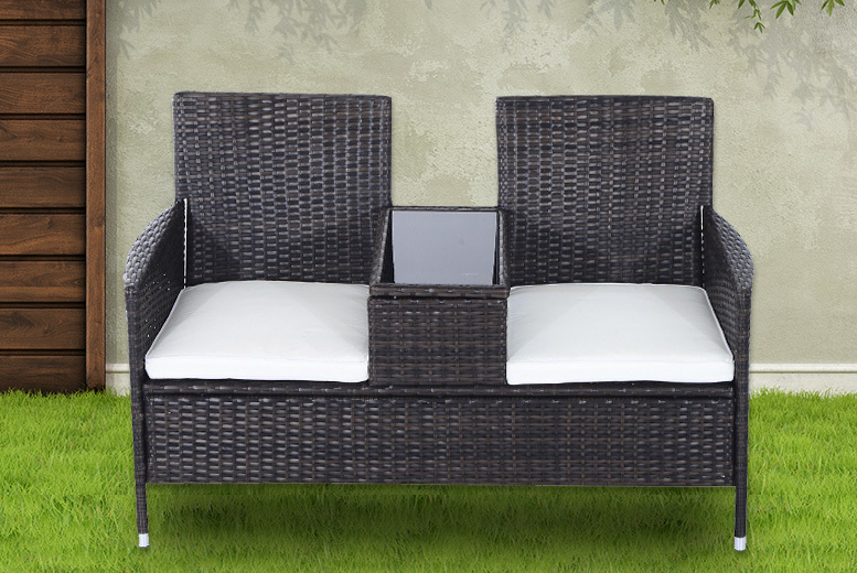 Rattan Chair Set w/Middle Tea Table – 2 Colours! (£89)