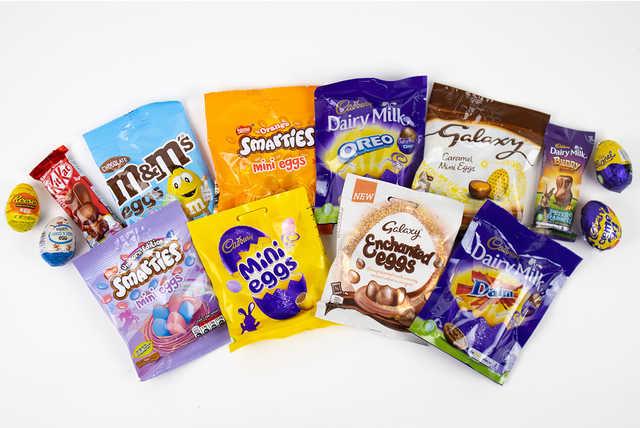 10pc Chocolate Egg Hamper - inc. Cadbury, Galaxy, Kit Kat & M&Ms!