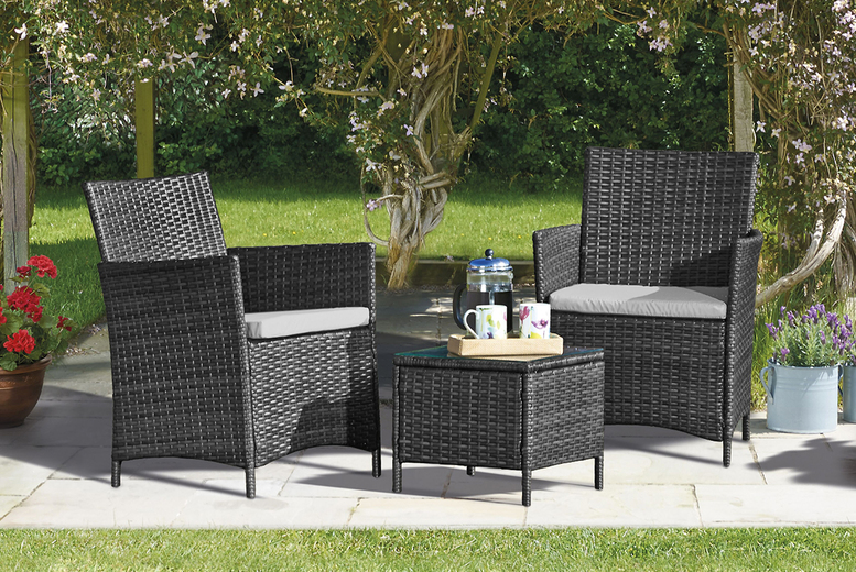 Seville Rattan Bistro Set – 3 Colours & Optional Covers! (£89)