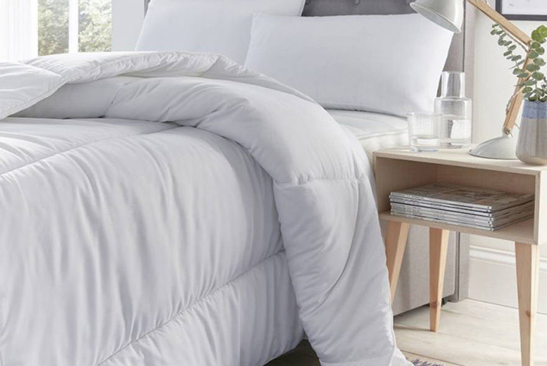 From £16.99 instead of £44.99 (from Direct Warehouse) for a single 13.5 tog duvet and four pillows, £20.99 for a double 13.5 tog duvet and four pillows, £22.99 for a king 13.5 tog duvet and four pillows, or £24.99 for a super king 13.5 tog duvet and four pillows – save up to 62%