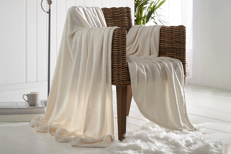 From £8.99 (from Five Minutes More) for a Sleepdown sparkle throw – choose from two sizes