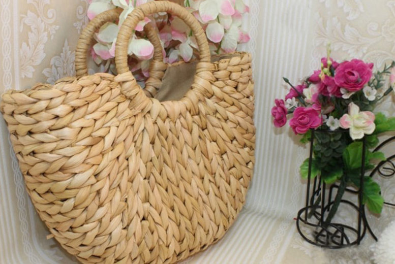 Straw Rattan Bag – 2 Sizes! (£12)