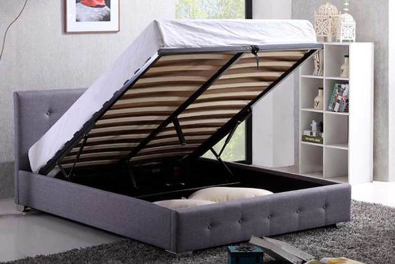 £139 (from JIA Interiors Limited) for a double grey ottoman storage bed, £159 for a king