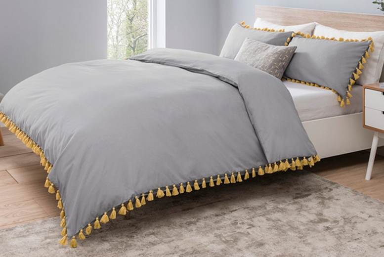 From £9.99 (from Five Minutes More) for a tassel bedding set – choose from four sizes