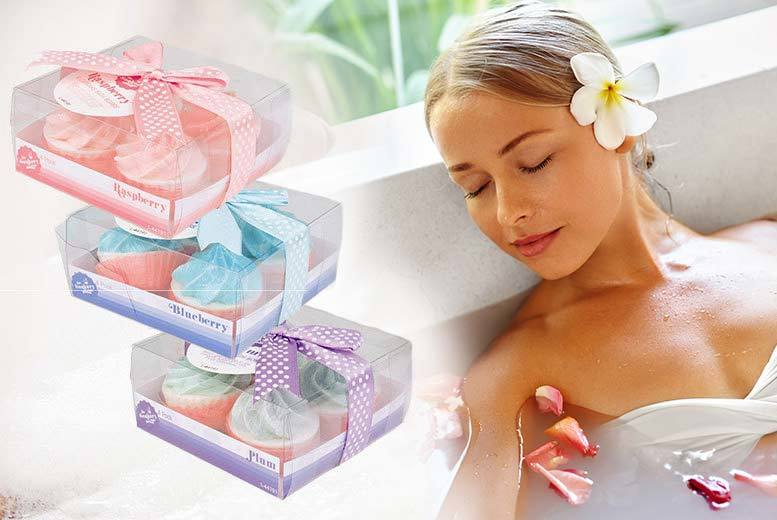 £8 instead of £24.99 (from London Exchainstore) for a set of 12 cupcake bath bombs in three scents - save a fabulously fragrant 68%