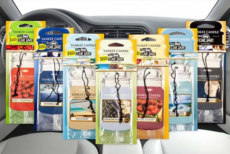 £2.99 instead of £4.99 for three Yankee Candle air fresheners, £5.99 for six, or £8.99 for nine - choose from five selections and save up to 40%