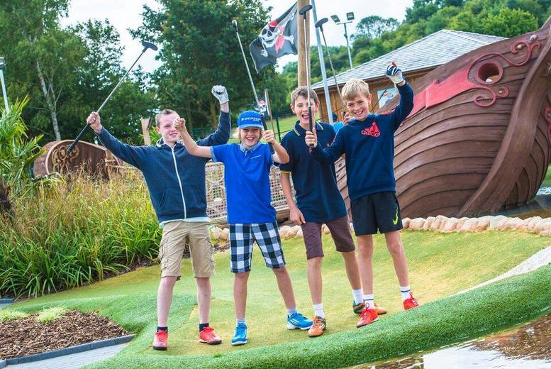 £5 instead of £10 for an 18-hole pirate adventure golf experience and hot drink at Mr Mulligan's Pirate Golf, Calverton - save 50%