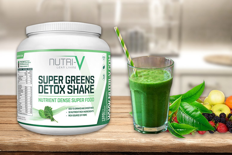 £15 instead of £40 (from Nutri-V) for a 30-day supply* of 'Super Greens Detox' shake powder, £25 for a 60-day supply* or £32 for a 90-day supply* - save up to 62%